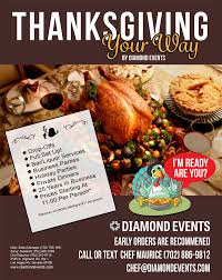 thanksgiving dinners delivered thanksgiving 2017 specials diamond events productions