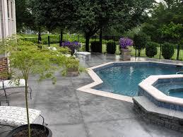 concrete pool decks stamped concrete