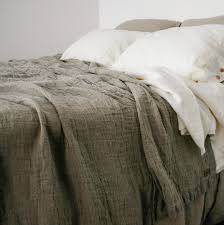 linen bedspread rough linen rustic style bed cover queen u0026