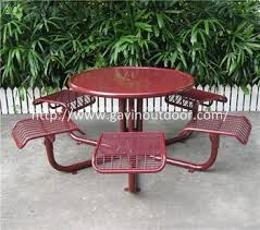 welded wire mesh outdoor cafe table chair set metal cafe style table