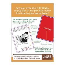amazon com knock knock slang flashcards slang flash cards