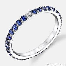 Sapphire Wedding Rings by Angelina Blue Sapphire Wedding Rings Jean Dousset