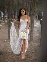 ivory wedding dress sweetheart lace floor length ivory wedding dress with split