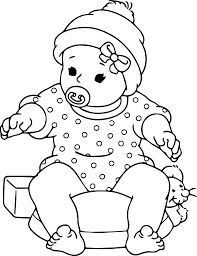 baby coloring page free printable ba coloring pages for kids