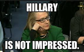 time out the new meme hillary is not impressed