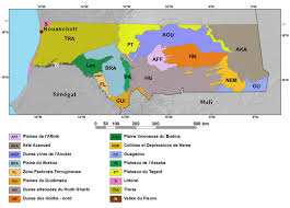 Western Africa Map by Ecoregions And Topography Of Mauritania West Africa