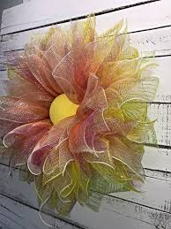 spring wreaths for front door spring wreath summer wreath everyday wreath deco mesh flower