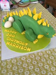 3d dinosaur birthday cake 5 steps with pictures