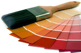 paint swatches to pick paint colors for interior rooms