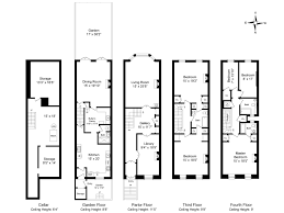 amazing brownstone row house floor plans contemporary best image