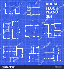 design house plans big set floor plans blueprints vector stock vector 500671510