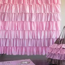 Frilly Shower Curtains Pink Ruffle Shower Curtain Home Design