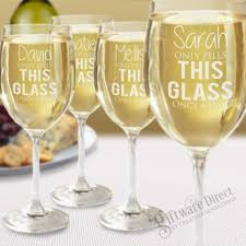 Unique Engraved Gifts Set Of 4 Crystaline Wine Glasses Laser Engraved Mothers Day Gift