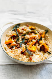 thanksgiving risotto recipe oven baked squash risotto recipe with sage u0026 pancetta