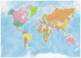 Mongolia On World Map Vector World Map Political 1419 The World Of Maps Com