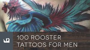 100 rooster tattoos for men youtube