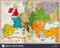 Old Europe Map by Old Atlas Map Europe In 16th Century Stock Photo Royalty