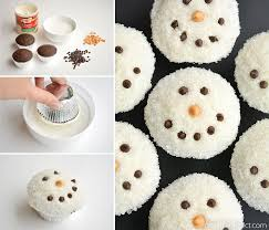 Christmas Party Food Kids - easy snowman cupcakes one little project