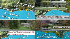 Map Of Lake Washington by Lake Washington Cruising