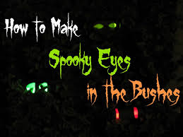 spooky haloween pictures spooky eyes in the bushes tutorial for halloween frugal upstate