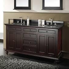 Double Trough Sink Bathroom Rectangle White Wooden Bathroom Vanity With Double Rectangle White