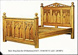 Gothic Style Bed Frame by Keenpine Gothic Range Hand Made From Reclaimed Pine Minster