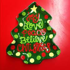 impressive ideas christmas tree plates contemporary paper plate