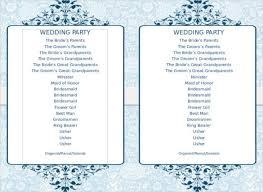 One Page Wedding Program Free One Page Wedding Program Templates Microsoft Word Wedding