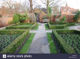 southover grange gardens in winter lewes east sussex england