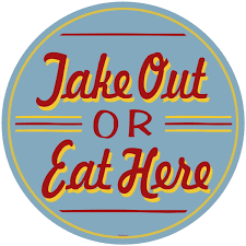 take out or eat here floor decal diner floor stickers