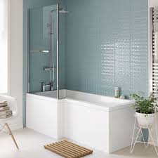 left right hand l shaped shower bath tub 1500 1600 1700 shower engineered bath shower screen