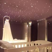 plafond chambre étoilé etoile chambre plafond palissade bois design