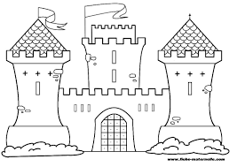 castle 6 buildings and architecture u2013 printable coloring pages