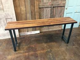 salvaged wood console table reclaimed barn wood console table with matte black steel legs