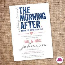 wedding brunch invitation wording the morning after wedding brunch invitation digital file