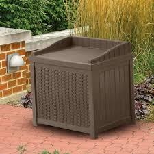 suncast resin wicker deck box 99 gallon home design ideas