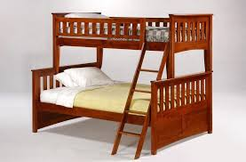 bedroom design inspiring cherry wood twin over full bunk bed for