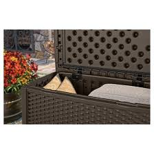 Suncast Patio Storage Bench Suncast Elements Resin Patio Storage Coffee Table Target
