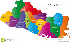 El Salvador On World Map el salvador map stock photos image 8551743