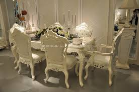 2011 new villa furniture 6 chairs solid wood dining set dining specifications