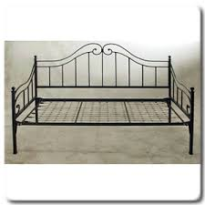Metal Daybed Frame Metal Beds 3ft 90cm Single White Metal Day Bed Frame By