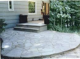 Building Stone Patio by Raised Flagstone Patio U2013 Smashingplates Us