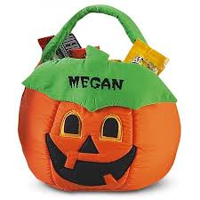personalized trick or treat bags o lantern treat basket lillian vernon