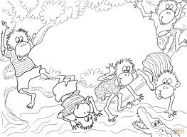 five little monkeys sitting in a tree coloring page free