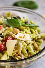 pasta salad pesto italian pesto pasta salad julie s eats treats