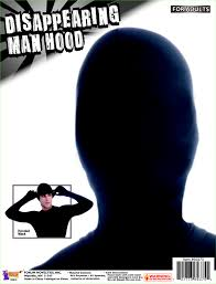 disappearing man hood black mask invisible halloween costume