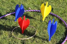 giant garden darts hire bbc inflatables 01905 841902