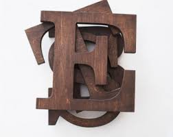 wooden letters etsy