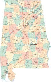 Highway Map Of The United States by Alabama Counties Road Map Usa