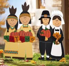 thanksgiving folks wooden garden signs indians by